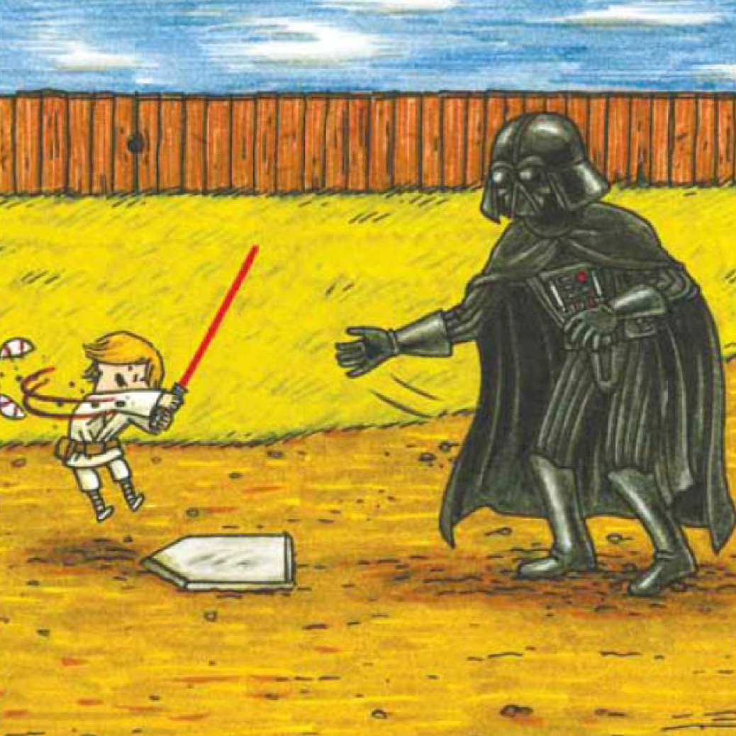 """I don't know why I didn't expect this, but kids really like the book, maybe even more than the adult audience,"" says Jeffrey Brown, author of Darth Vader and Son, a best-selling panel book about Vader's frustrations raising a 4-year-old Luke Skywalker. ""A lot of people have said their kids want it as their bedtime book just again and again and again."""