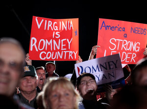 Supporters of Republican Mitt Romn