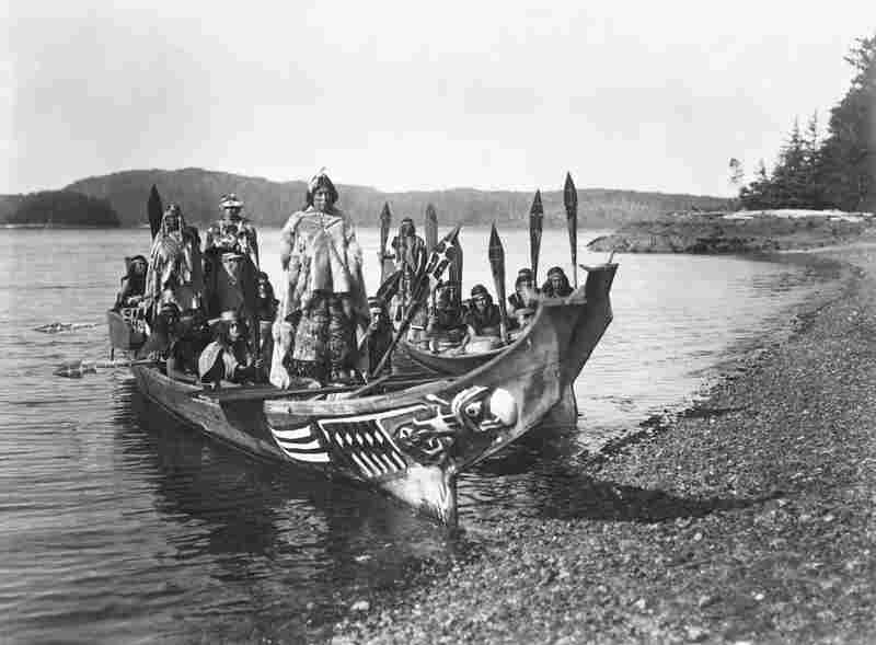 Wedding party, 1914. A still from the film In the Land of the Head Hunters, in which Curtis sought to re-create a mythic story of the Kwakiutl.