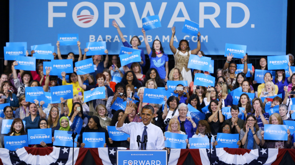 President Obama speaks during a campaign event at George Mason University in Fairfax, Va., on Friday. (AP)