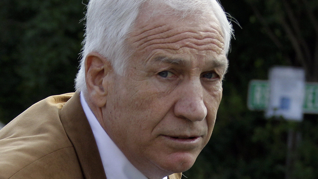 Former Penn State assistant football coach Jerry Sandusky, shown arriving at court during his trial in June, is expected back in court Tuesday for a sentencing hearing. (AP)