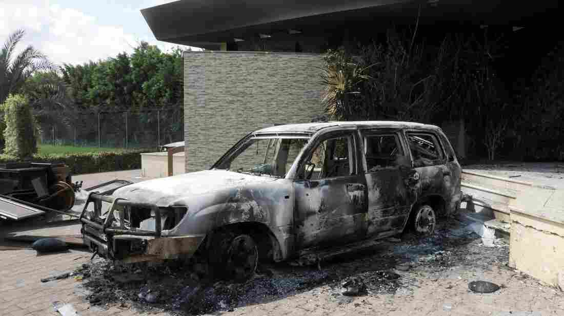 U.S. authorities are investigating whether al-Qaida played a role in last month's attack on the U.S. Consulate in Benghazi. Here, a damaged vehicle sits outside the consulate one day after the attack.