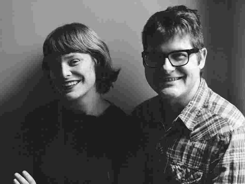 Colin Meloy's wife, Carson Ellis (left), illustrated Under Wildwood. Ellis also serves as illustrator-in-residence for The Decemberists.