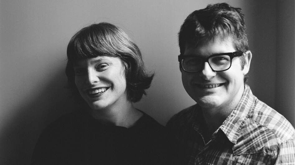 Colin Meloy's wife, Carson Ellis (left), illustrated Under Wildwood. Ellis also serves as illustrator-in-residence for The Decemberists. (Courtesy of Balzer & Bray)