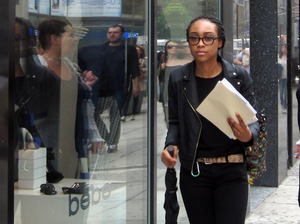 Onieka O'Kieffe, 22, hits the streets of Midtown Manhattan to find a retail job this holiday season. She says she needs the second job because she's only getting 17 hours per week at her current job.