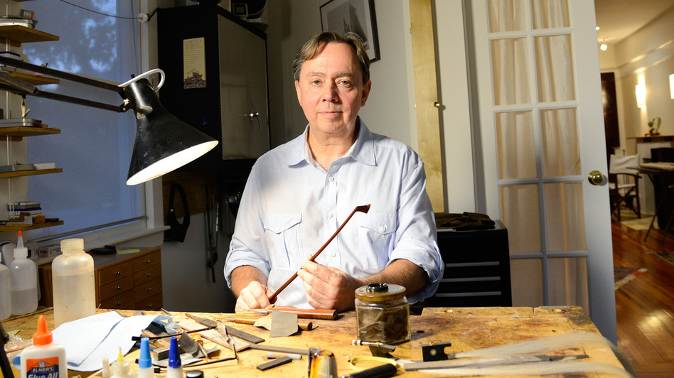 Over the past four decades, Benoit Rolland has made more than 1,400 bows for violins, violas and cellos. (Courtesy of the John D. & Catherine T. MacArthur Foundation)
