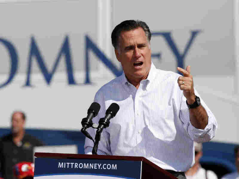Republican presidential candidate Mitt Romney held a campaign rally Friday in Abingdon, Va.