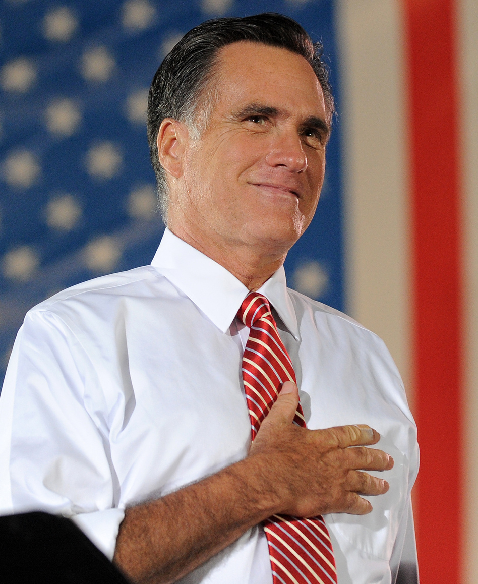 Republican presidential nominee Mitt Romney during a rally in Fishersville, Va., on Thursday.