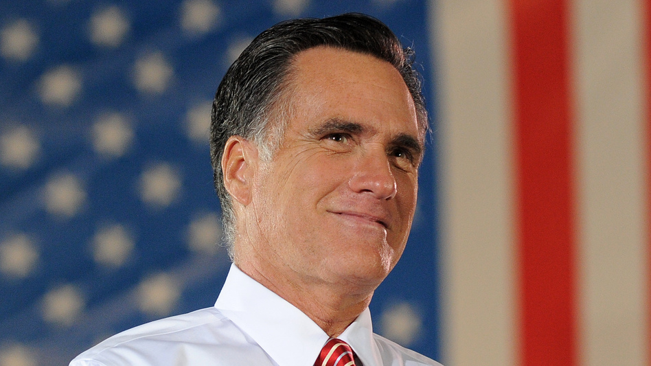 Republican presidential nominee Mitt Romney during a rally in Fishersville, Va., on Thursday. (AFP/Getty Images)