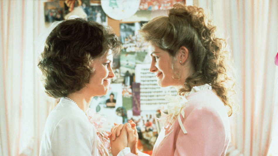 Sally Field and Julia Roberts in Steel Magnolias. (The Kobal Collection)