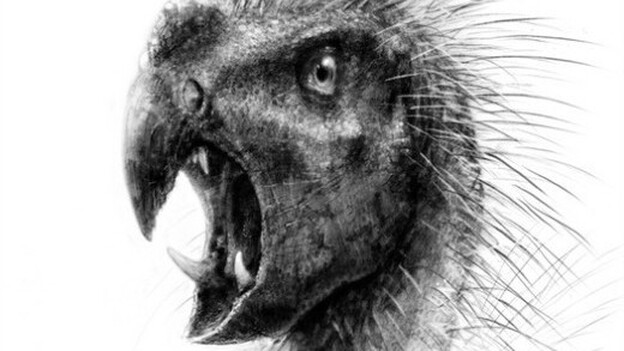 Pegomastax africanus stood less than two feet tall and sported sharp fangs and a beak. (Todd Marshall)
