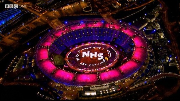 Outsiders might be unfamiliar with the U.K.'s National Health Service, but Brits love it so much that they devoted part of opening ceremonies at the 2012 London Olympics to the NHS. (Courtesy of BBC One)