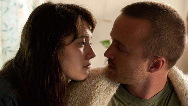 Kate and Charlie (Mary Elizabeth Winstead and Aaron Paul), a young married couple, stumble down Kate's path to sobriety. (Sony Pictures Classics)