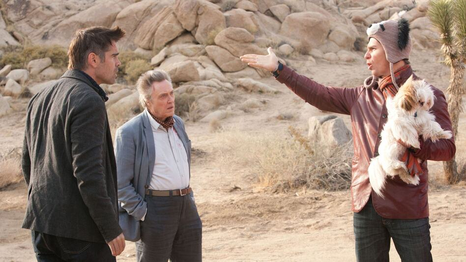 Crazy Funny: Seven Psychopaths centers on Marty (Colin Farrell), Hans (Christopher Walken) and Billy (Sam Rockwell), three Tinseltown oddballs with a sideline in dognapping. (CBS Films)