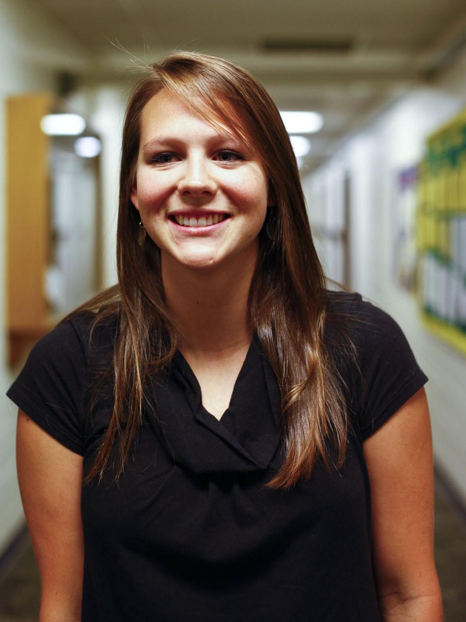 Carol Kennedy, 21, Democrat. (NPR)