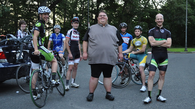 Ernest Gagnon weighed 570 pounds before he decided to lose weight by taking up cyclocross racing. Forgoing surgery, Gagnon lost more than 200 pounds and recently competed in his first cyclocross race. (Courtesy of Ernest Gagnon)