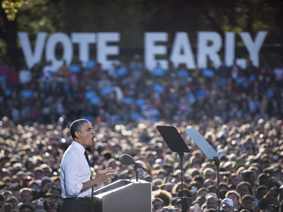 President Obama at Ohio State University in Columbus on Tuesday. (AFP/Getty Images)