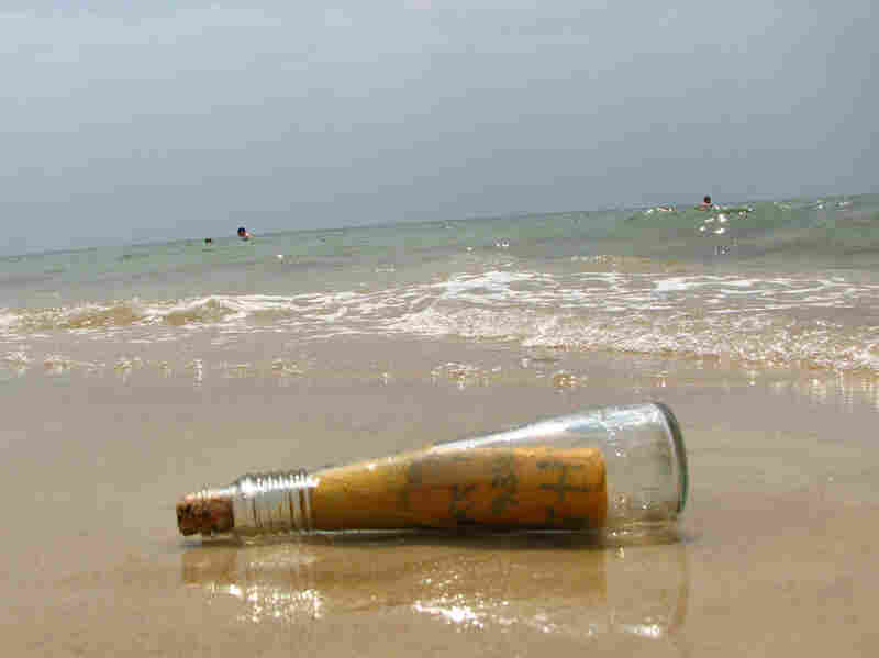 """This bottle washed up in Florida. The message inside read, """"God is the answer."""""""