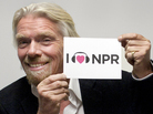 Sir Richard Branson at NPR HQ in DC.