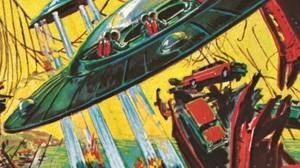 "The card ""Destroying The Bridge"" shows the destruction of the Golden Gate Bridge."