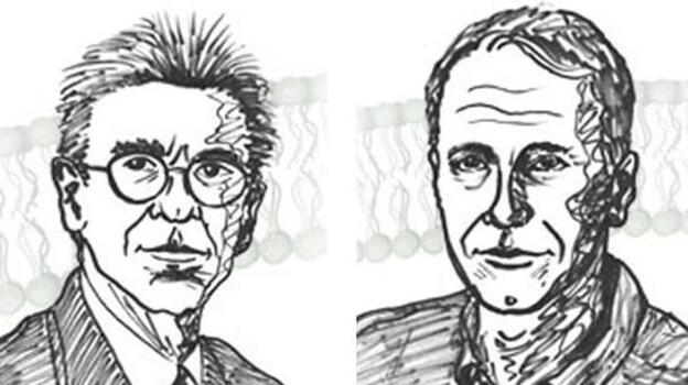 This year's winners of the Chemistry Nobel: Robert Lefkowitz (left) and Brian Kobilka. (NobelPrize.org)