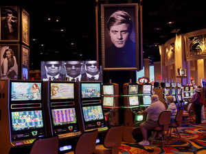 Gamblers play slots during the grand opening of the Hollywood Casino in Toledo, Ohio, in May. It was the second casino to open in the state.