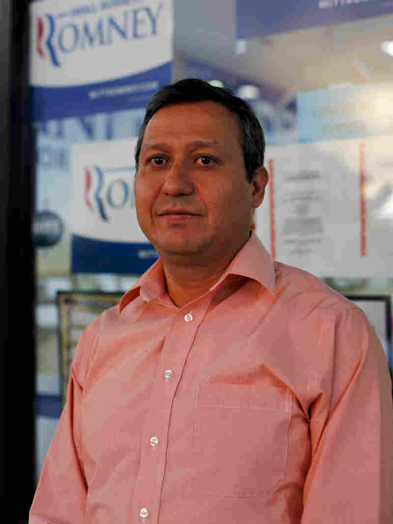 """Joseph Andujo says he believes Latinos and the Republican Party share the values of """"faith, family, freedom."""""""