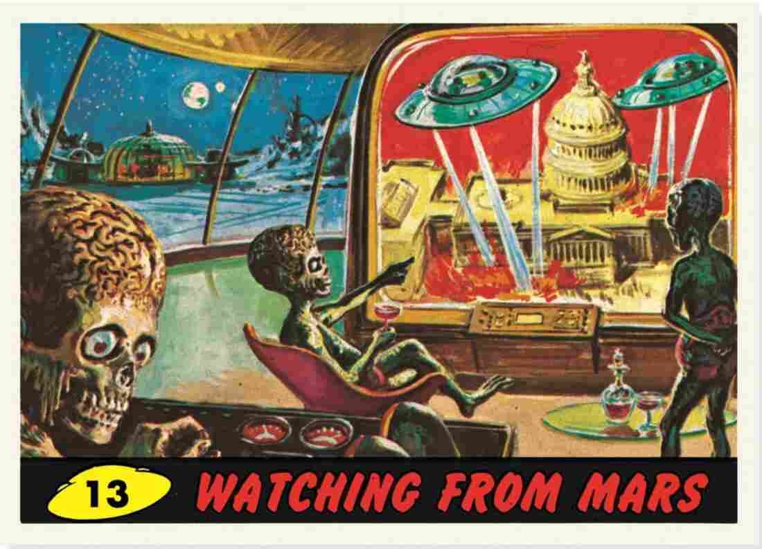 "The card ""Watching From Mars."""