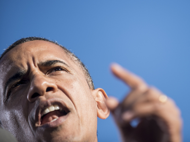 President Obama promised to take it to Mitt Romney in future debates. (AFP/Getty Images)