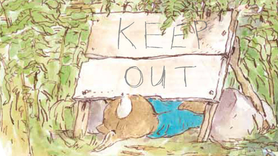 Thompson preserves Peter Rabbit's reputation for breaking the rules. (Penguin Young Readers Group)