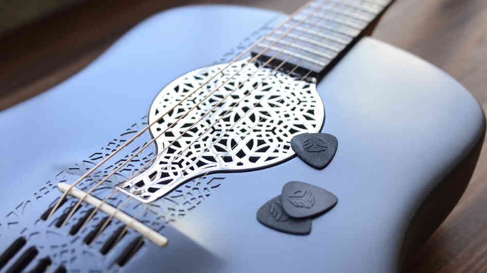 Industrial engineer Scott Summit made this guitar out of