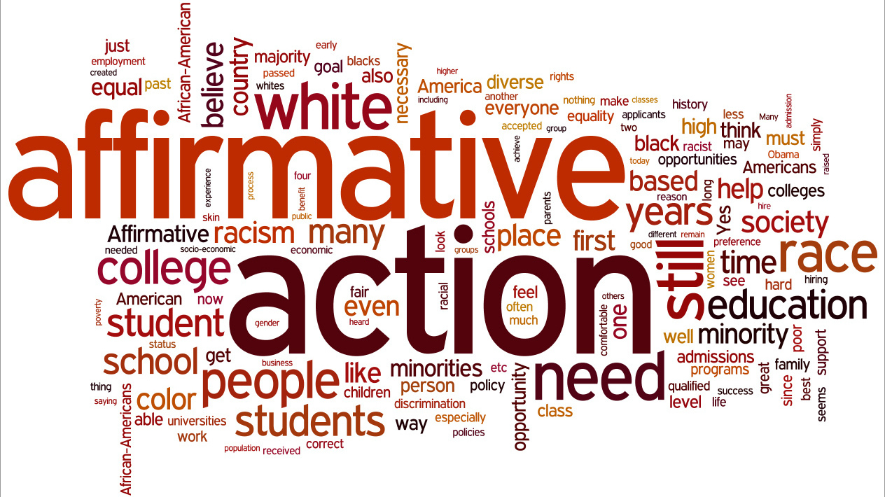 essays of affirmative action Affirmative action has increased the representation worldwide population in fields of study a work in which they have believe to be biased (kelloug, j c 2006) there are opponents of affirmative action who said that the reverse in reverse discrimination indicates that normal discrimination is an attribute to majority.