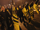 Neo-Nazis and their sympathizers march on Feb. 13 to commemorate the World War II firebombing of Dresden, Germany, by Allied planes. Concerns about far-right extremism have grown in Germany after the discovery last year of an extreme far-right cell believed to have carried out a decade-long crime spree, including the murder of 10 people, mainly Turkish shopkeepers, bank robberies and bombs.
