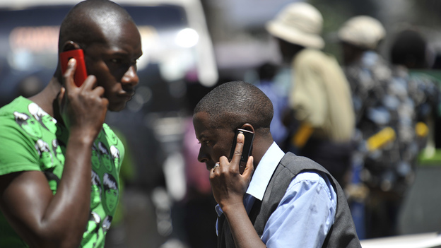 More than 90 percent of Kenyans use mobile phones, giving scientists a powerful tool to track how diseases spread. (AFP/Getty Images)