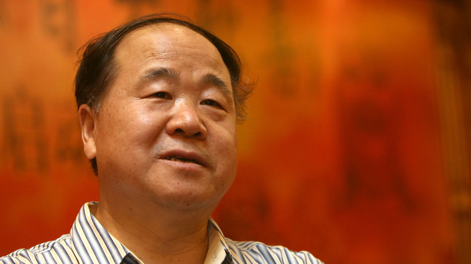 "Chinese writer Mo Yan is the winner of the 2012 Nobel Prize in literature. Mo Yan is a pen name that means ""don't speak"" — a name he adopted because his parents, who raised him during the Cultural Revolution, warned him to hold his tongue. (AFP/Getty Images)"