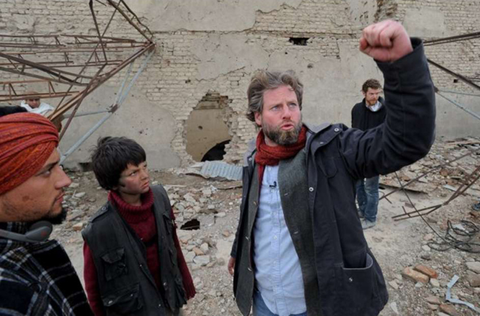 American director Sam French on the set of his short film, <em>Buzkashi Boys</em>, which was filmed in Afghanistan.
