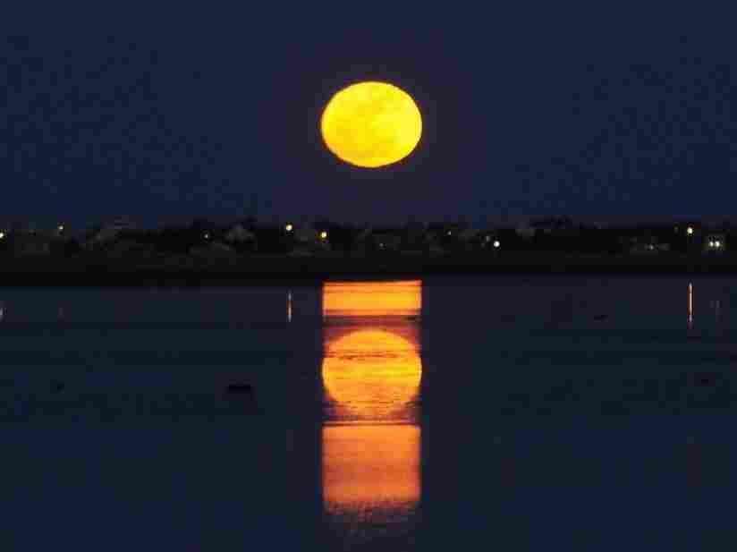The moon as Morse code.