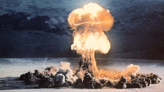The Priscilla event, part of Operation Plumbbob conducted at the Nevada Test Site in 1957, was a 37-kiloton device exploded from a balloon. (U.S. Department of Energy)