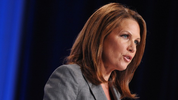Rep. Michele Bachmann, R-Minn., speaks during the Family Research Council Action Values Voter Summit last month in Washington. (AFP/Getty Images)