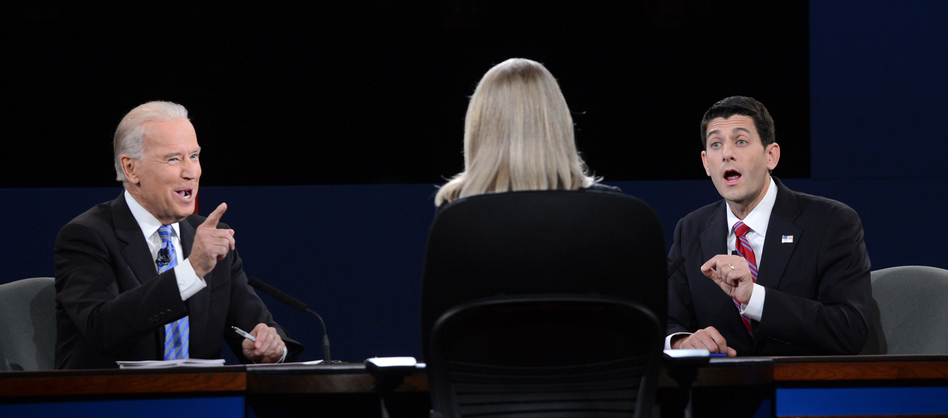 Vice President Biden and Republican Paul Ryan debate Thursday, with Martha Raddatz moderating. (AFP/Getty Images)