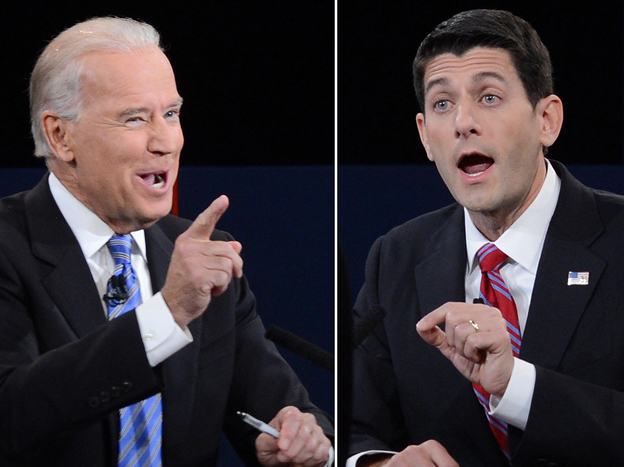 Vice President Biden and Republican Paul Ryan at Thursday night's debate.