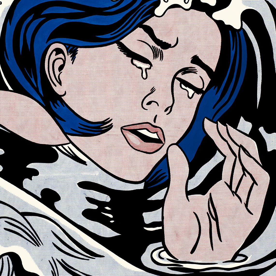 """I don't care! I'd rather sink -- than call Brad for help!"" laments Lichtenstein's 1963 Drowning Girl."