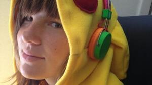 Willow in her Pikachu costume.