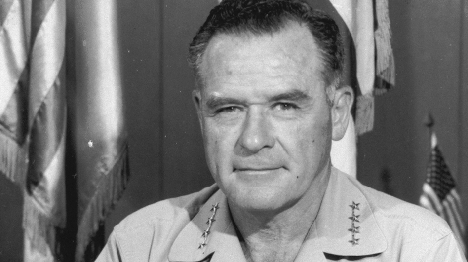 Gen. John D. Lavelle was accused of authorizing illegal bombing raids in North Vietnam. Stripped of two stars, he was forced into retirement in 1972. (AP)