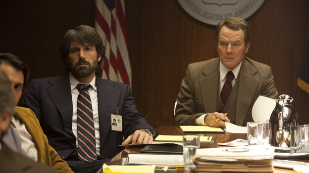 CIA agents Tony Mendez (Ben Affleck) and Jack O'Donnell (Bryan Cranston) plan a risky mission to save six Americans trapped in Iran. (Warner Bros. Pictures)