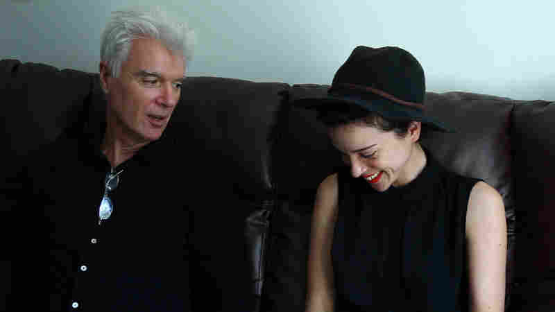 David Byrne and Annie Clark of St. Vincent