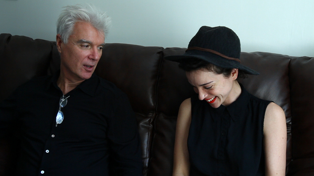 David Byrne and Annie Clark of St. Vincent (NPR)