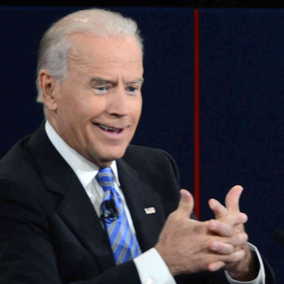 Vice President Biden thought much of what his opponent said Thursday night was malarkey, and his face often showed