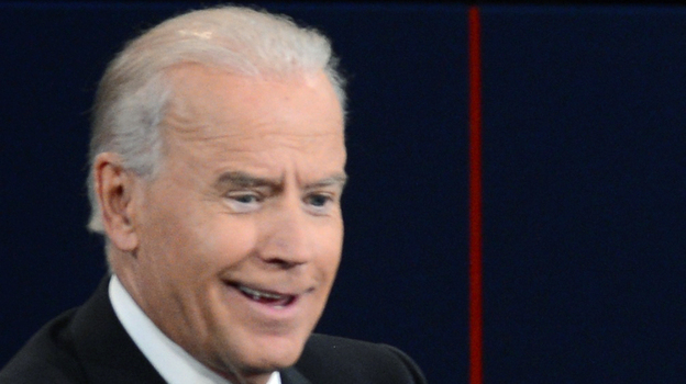 Vice President Biden thought much of what his opponent said Thursday night was malarkey, and his face often showed what he was thinking. (AFP/Getty Images)