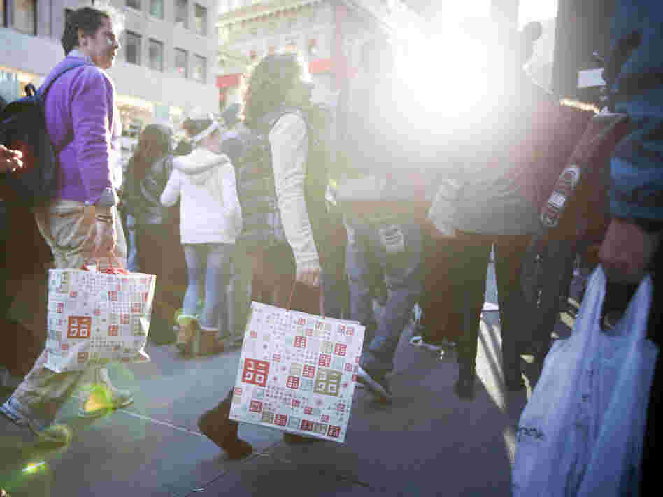 """Black Friday"" 2011 in Manhattan: Retailers hope to see shoppers out again in force this holiday season. If confidence stays high, they may get their wish."